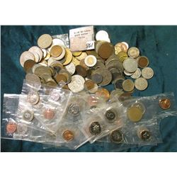 (164) Mixed Foreign Coins, includes several Panama Proof Coins and a touch of Silver.