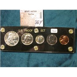 1960 P U.S. Proof Set in a black Capital holder with Gold lettering.