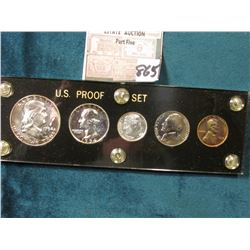 1954 P U.S. Proof Set in a black Capital holder with Gold lettering.