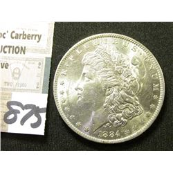 1884 O Morgan Silver Dollar. Brilliant Unc.