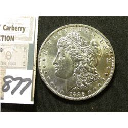 1885 O Morgan Silver Dollar. Brilliant Unc.