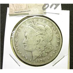 1878 P Morgan Silver Dollar. VG-8.