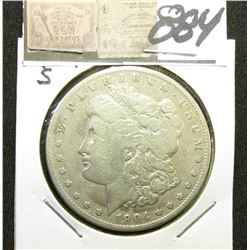 1904 S Morgan Silver Dollar. VG-8.