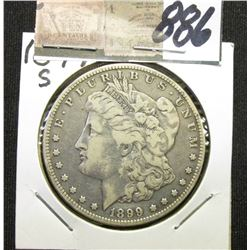 1899 S Morgan Silver Dollar. Fine.