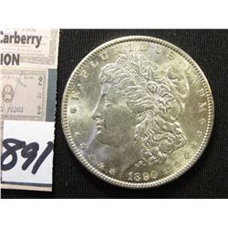 1890 P Morgan Silver Dollar. Brilliant Unc.