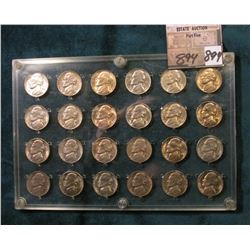 1945 S to 53 S Complete BU Set of Jefferson Nickels in a Seitz holder. Includes the rare 1950 D.