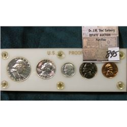 1960 P U.S. Proof Set in a white Capital holder with Gold lettering.