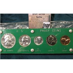 1961 P U.S. Proof Set in a green Capital holder with Gold lettering.