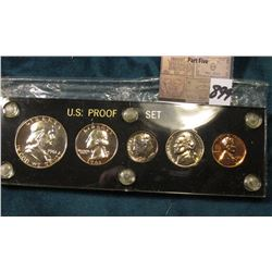 1961 P U.S. Proof Set in a black Capital holder with Gold lettering.