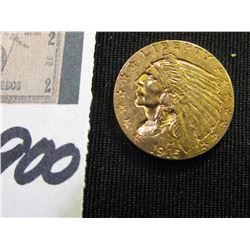 1915 P U.S. Quarter Eagle $2.50 Gold Piece. EF.