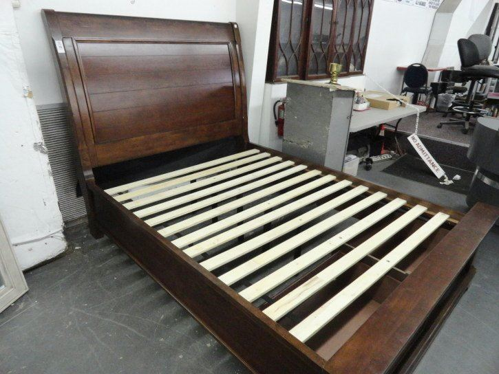 Mission style queen bed frame for Mission style bed frame plans