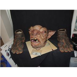 HELLBOY THE GOLDEN ARMY SCREEN USED CRONIE MARKET TROLL ANIMATRONIC CREATURE DEMON HEAD AND SUIT
