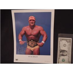 HULK HOGAN VINTAGE HAND SIGNED WWF PROMO PHOTO