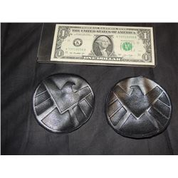 AVENGERS SHIELD MATCHED PAIR OF PATCHES