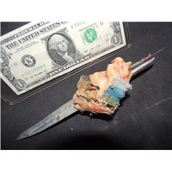 CHILD'S PLAY 2 SCREEN USED KNIFE FROM CHUCKY'S ARM WITH FLESH SHIRT SWATCH AND TAPE STILL ATTATCHED