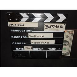 BATMAN 1989 MAIN UNIT CLAPPER BOARD SIGNED BY MICHAEL KEATON