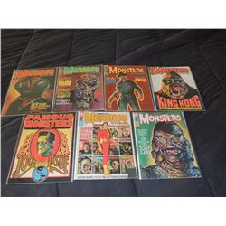FAMOUS MONSTERS OF FILMLAND #100 - #109 LOT OF 7 ISSUES