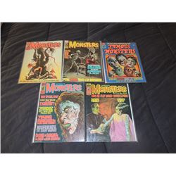 FAMOUS MONSTERS OF FILMLAND #110 - #119 LOT OF 5 ISSUES