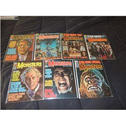 FAMOUS MONSTERS OF FILMLAND #130 - #139 LOT OF 7 ISSUES