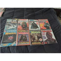 FAMOUS MONSTERS OF FILMLAND #140 - #149 LOT OF 8 ISSUES