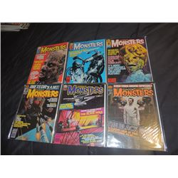 FAMOUS MONSTERS OF FILMLAND #160 - #169 LOT OF 6 ISSUES