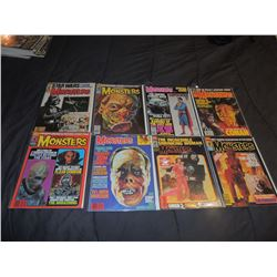 FAMOUS MONSTERS OF FILMLAND #170 - #179 LOT OF 8 ISSUES