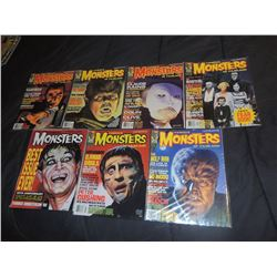 FAMOUS MONSTERS OF FILMLAND #200 - #209 LOT OF 7 ISSUES