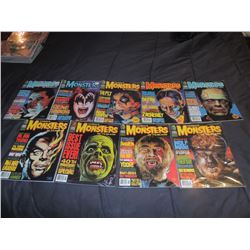 FAMOUS MONSTERS OF FILMLAND #220 - #229 LOT OF 9 ISSUES