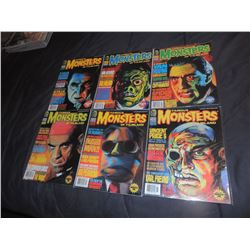 FAMOUS MONSTERS OF FILMLAND #230 - #239 LOT OF 6 ISSUES