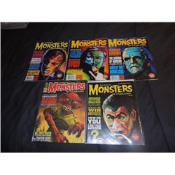 FAMOUS MONSTERS OF FILMLAND #240 - #249 LOT OF 5 ISSUES