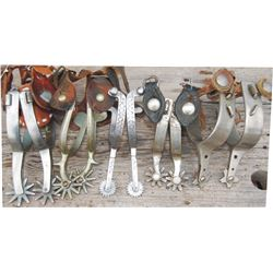 5 pairs of spurs - Buermann, Kelly