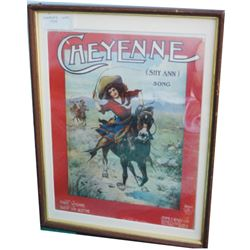 1905 framed Cheyenne sheet music