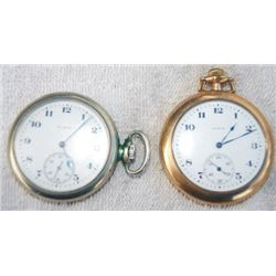 2 Elgin gold and silver pocket watches