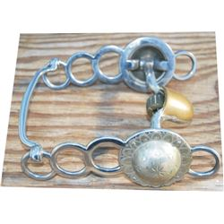 Visalia polo bit with silver conchos