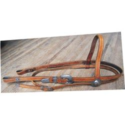 headstall with  silver