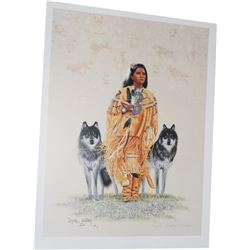 Dyrk Godby print - Indian Maiden, signed and numbered
