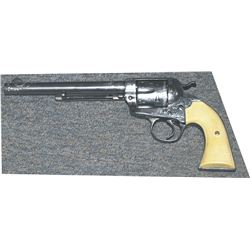 """Colt Bisley 7 1/2"""" barrel, nickel plated and engraved.  Excellent condition #29711xx"""