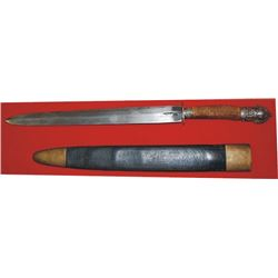 lXL stag handle spear point knife