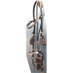 prison made hitched hair headstall