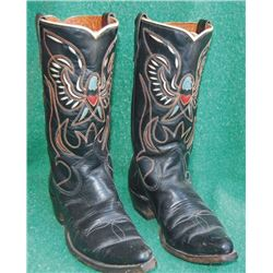 Texas inlaid eagle boots
