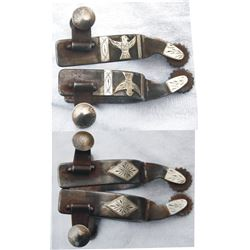 MK double mounted Texas style spurs