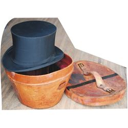 1890's London silk lined top hat