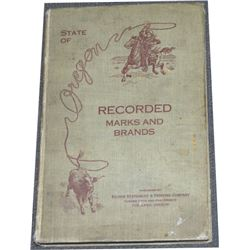 1918 Oregon brand book
