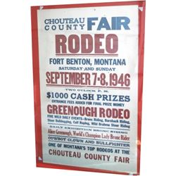 1946 Fort Benton Rodeo poster