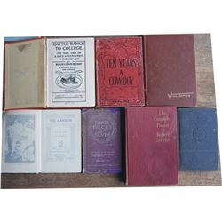 7 books - 1898 Ten Years a Cowboy, Will James Home Ranch