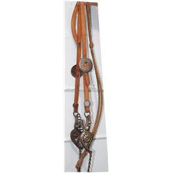 nice bridle with Mexican silver inlaid bit