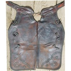 spotted Lawrence batwing  chaps