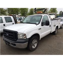 2006 ford f 250 xl super duty work truck pu white vin 1ftnf20536ed25894 able auctions. Black Bedroom Furniture Sets. Home Design Ideas