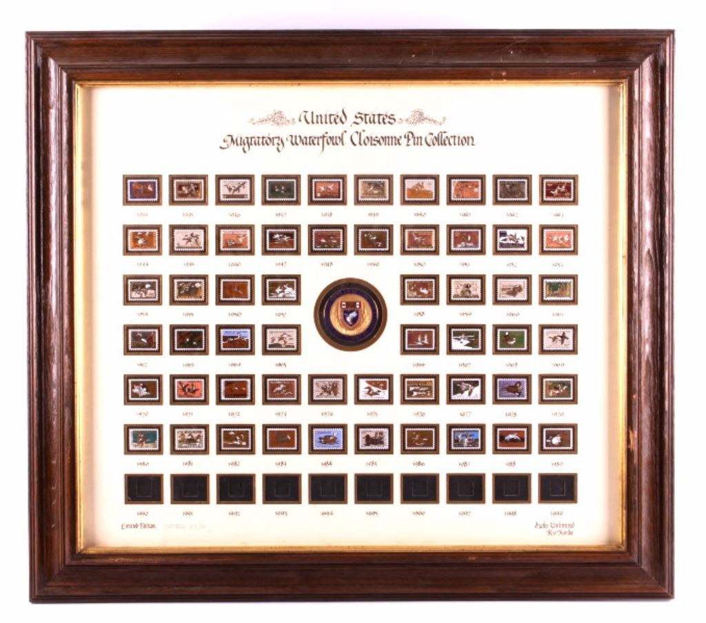Ducks Unlimited Framed Waterfowl Pin Collection