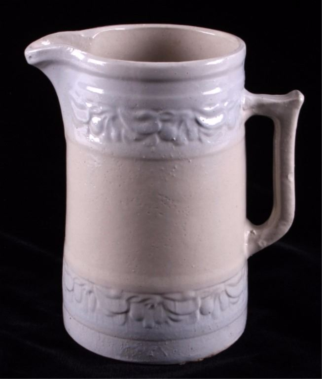 Red Wing Stoneware Cherry Band Pitcher Loading Zoom